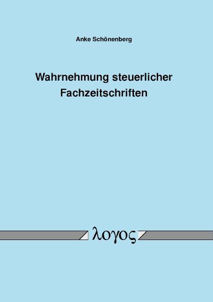 Wahrnehmung steuerlicher Fachzeitschriften - Coverbild