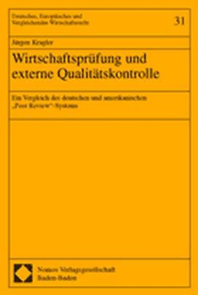 Wirtschaftsprüfung und externe Qualitätskontrolle - Coverbild