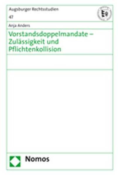 Vorstandsdoppelmandate - Zulässigkeit und Pflichtenkollision - Coverbild