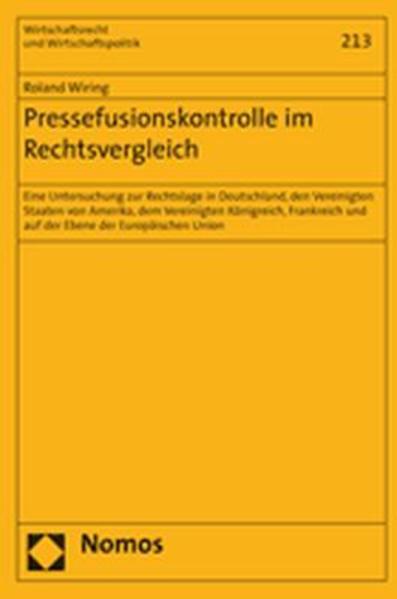 Pressefusionskontrolle im Rechtsvergleich - Coverbild
