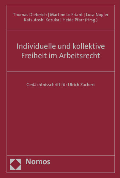 Individuelle und kollektive Freiheit im Arbeitsrecht - Coverbild