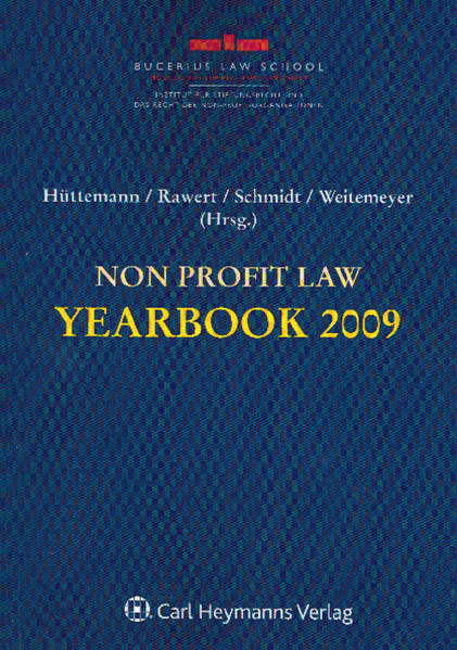 Non Profit Law Yearbook 2009 - Coverbild