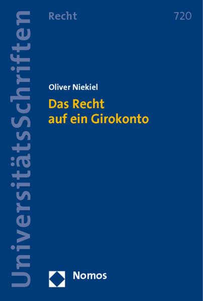 Das Recht auf ein Girokonto - Coverbild