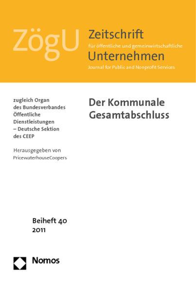 Der Kommunale Gesamtabschluss - Coverbild