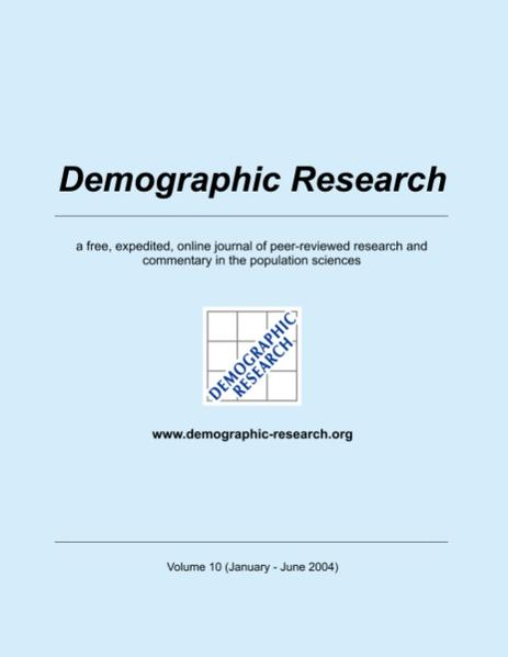 Demographic Research, Volume 10 - Coverbild