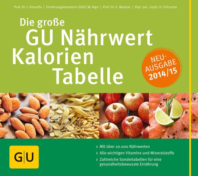 Die große GU Nährwert-Kalorien-Tabelle 2014/15 - Coverbild