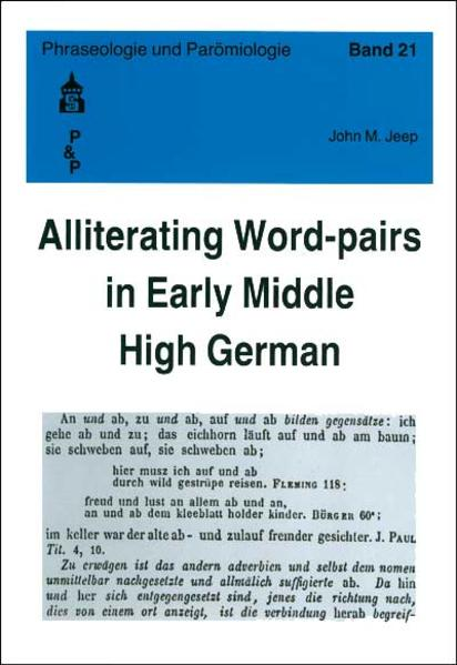 Alliterating Word-pairs in Early Middle High German - Coverbild