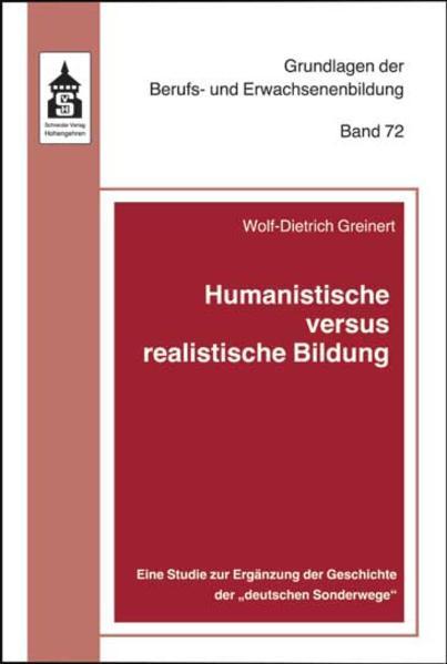 Humanistische versus realistische Bildung - Coverbild