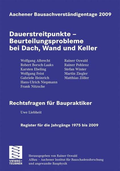 Aachener Bausachverständigentage 2009 - Coverbild