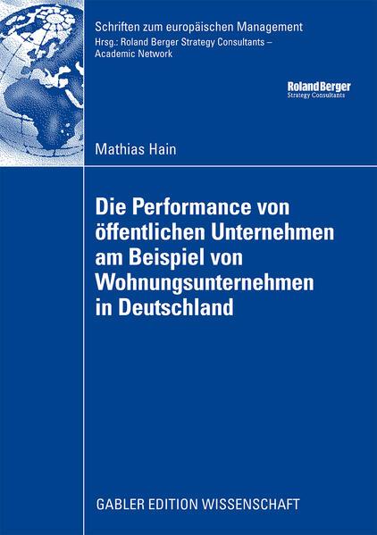 Die Performance von öffentlichen Unternehmen am Beispiel von Wohnungsunternehmen in Deutschland - Coverbild