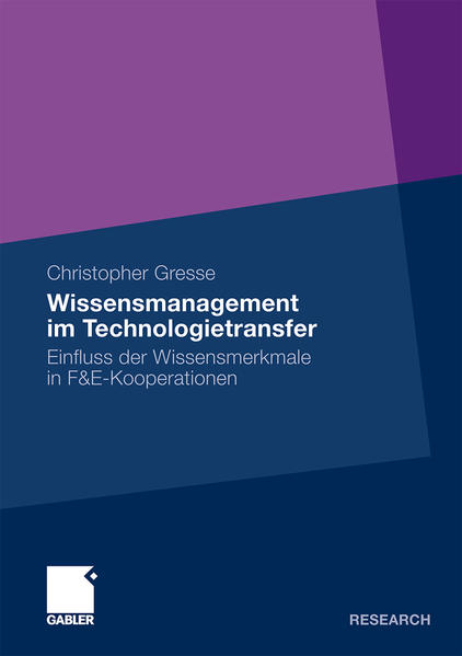 Wissensmanagement im Technologietransfer - Coverbild