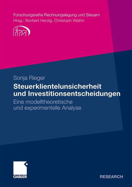 Steuerklientelunsicherheit und Investitionsentscheidungen - Coverbild