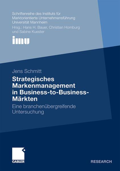 Strategisches Markenmanagement in Business-to-Business-Märkten - Coverbild