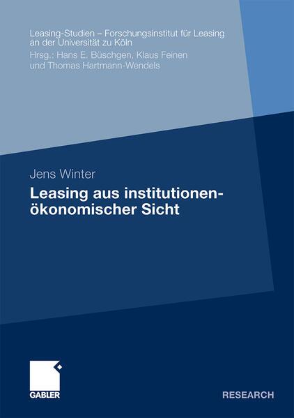 Leasing aus institutionenökonomischer Sicht - Coverbild