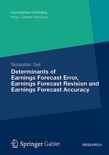 Determinants of Earnings Forecast Error, Earnings Forecast Revision and Earnings Forecast Accuracy - Coverbild