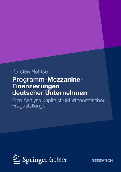 Programm-Mezzanine-Finanzierungen deutscher Unternehmen - Coverbild