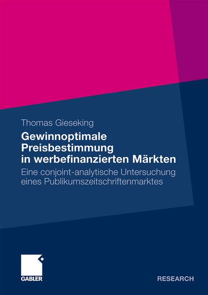 Gewinnoptimale Preisbestimmung in werbefinanzierten Märkten - Coverbild