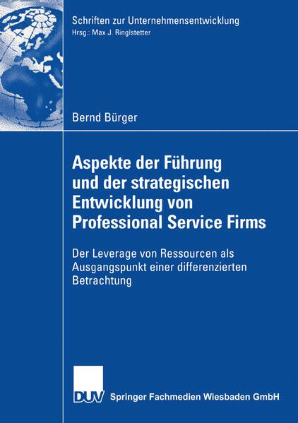 Aspekte der Führung und der strategischen Entwicklung von Professional Service Firms - Coverbild
