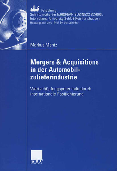 Mergers & Acquisitions in der Automobilzulieferindustrie - Coverbild