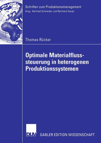 Optimale Materialflusssteuerung in heterogenen Produktionssystemen - Coverbild