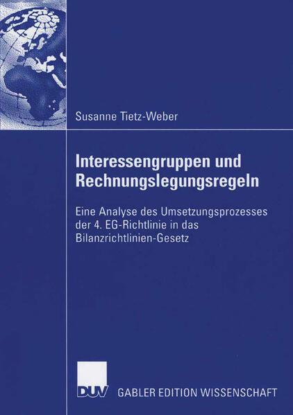 Interessengruppen und Rechnungslegungsregeln von Susanne Tietz-Weber PDF Download