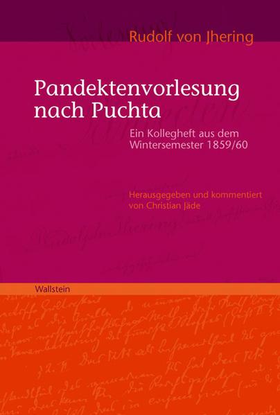Pandektenvorlesung nach Puchta - Coverbild