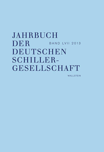 Jahrbuch der Deutschen Schillergesellschaft. Internationales Organ... / Jahrbuch der Deutschen Schillergesellschaft - Coverbild