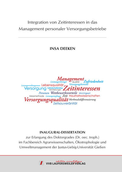 Integration von Zeitinteressen in das Management personaler Versorgungsbetriebe - Coverbild