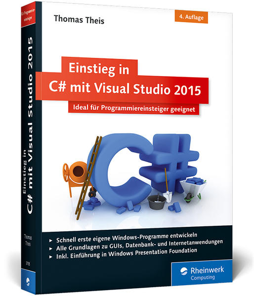 Einstieg in C# mit Visual Studio 2015 - Coverbild