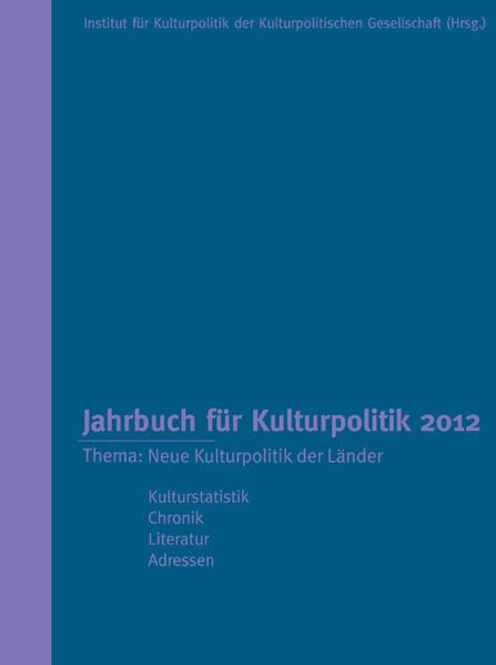 Jahrbuch für Kulturpolitik 2012 - Coverbild