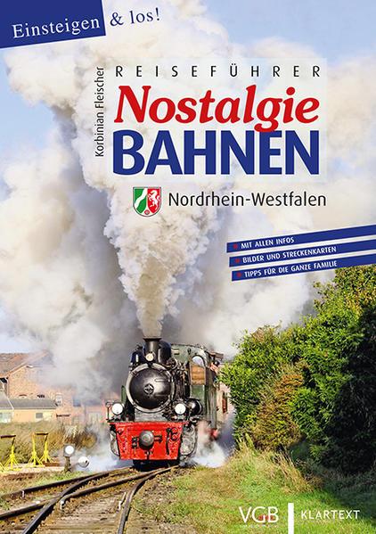 Reiseführer Nostalgiebahnen Nordrhein-Westfalen - Coverbild