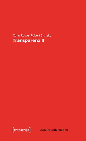 Transparenz: wörtlich und phänomenal II - Coverbild