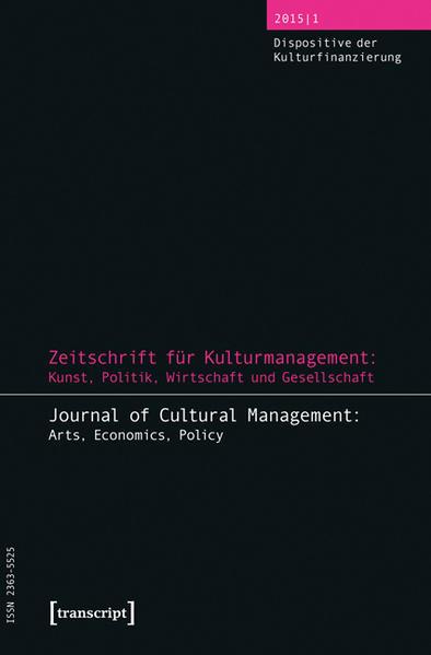 Zeitschrift für Kulturmanagement: Kunst, Politik, Wirtschaft und Gesellschaft - Coverbild