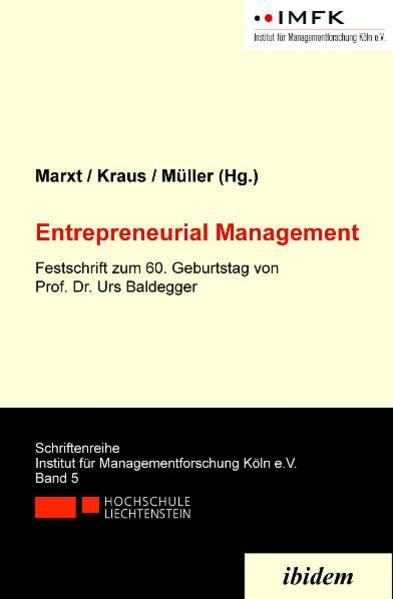 Entrepreneurial Management - Coverbild