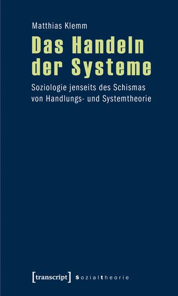 Das Handeln der Systeme - Coverbild