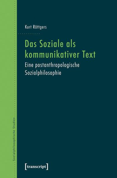 Das Soziale als kommunikativer Text - Coverbild
