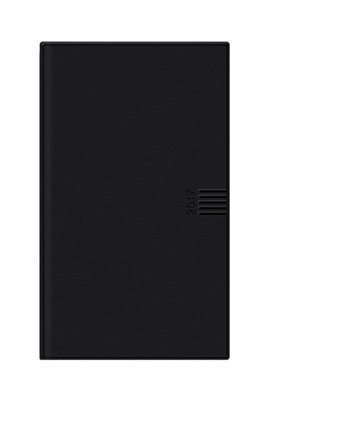 Leporello, schwarz - Kalender 2017 - Coverbild