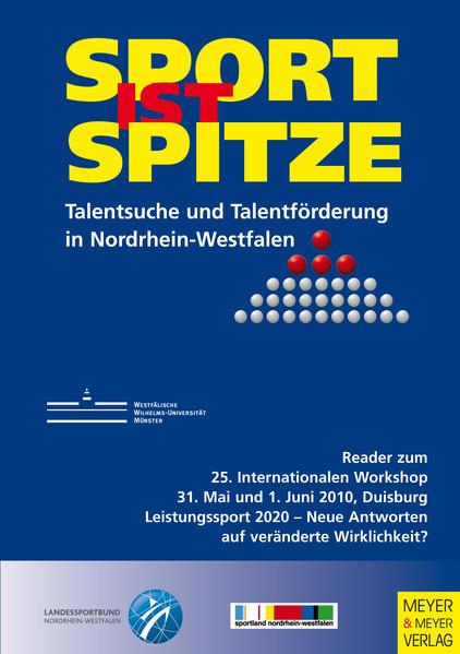 Sport ist Spitze - Landesprogramm Talentsuche und Talentförderung - Kongressband 2010 - Coverbild