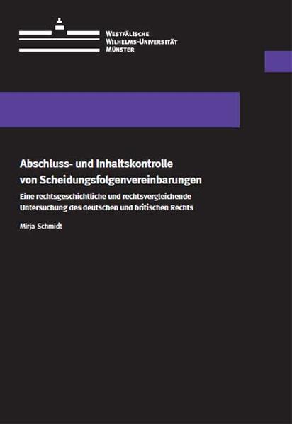 Abschluss- und Inhaltskontrolle von Scheidungsfolgenvereinbarungen - Coverbild