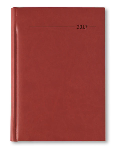 Buchkalender A5 352 Seiten Tucson rot 2017 - 1 Tag 1 Seite - Coverbild