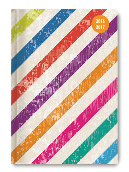 Collegetimer A5 day by day Colour Stripes 2016/2017 - 1 Tag 1 Seite - Coverbild
