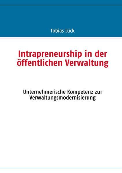 Intrapreneurship in der öffentlichen Verwaltung - Coverbild