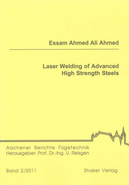 Laser Welding of Advanced High Strength Steels - Coverbild
