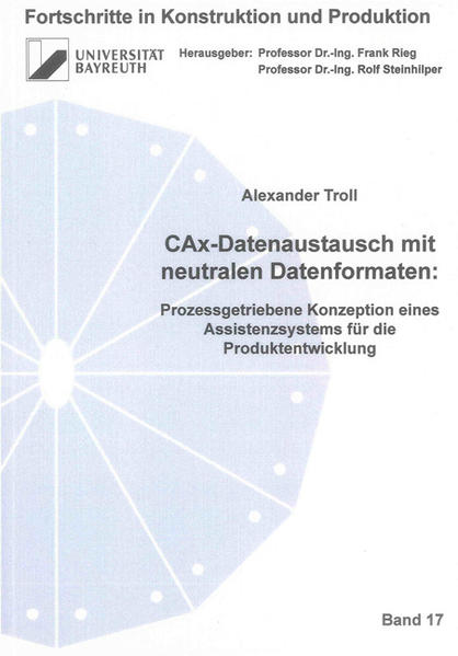 CAx-Datenaustausch mit neutralen Datenformaten: - Coverbild