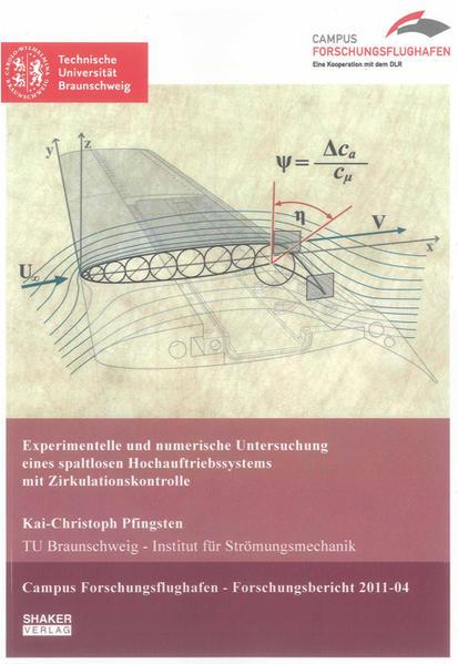 Experimentelle und numerische Untersuchung eines spaltlosen Hochauftriebssystems mit Zirkulationskontrolle - Coverbild