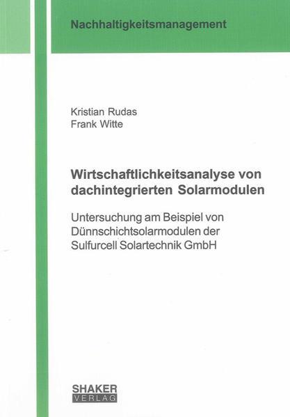 Wirtschaftlichkeitsanalyse von dachintegrierten Solarmodulen - Coverbild