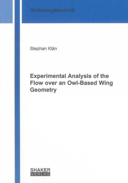 Experimental Analysis of the Flow over an Owl-Based Wing Geometry - Coverbild
