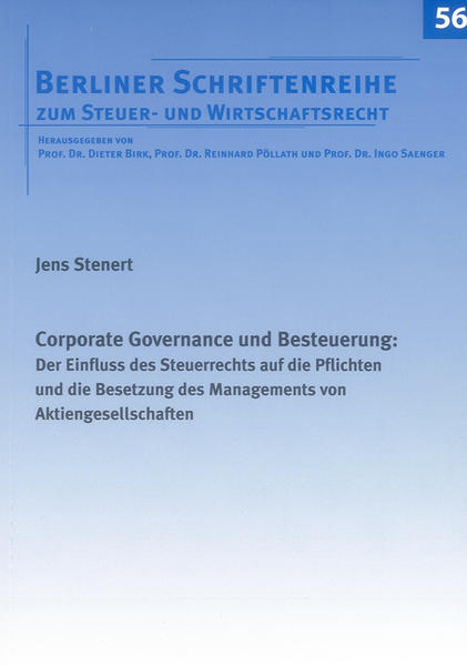 Corporate Governance und Besteuerung: - Coverbild