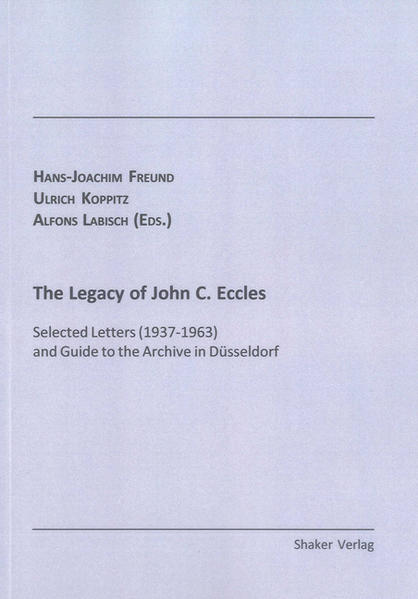 The Legacy of John C. Eccles - Coverbild