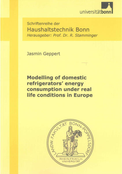 Modelling of domestic refrigerators' energy consumption under real life conditions in Europe - Coverbild